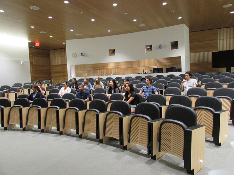 Students attending a Lecture at the PNI Summer Internship Program - 2014.